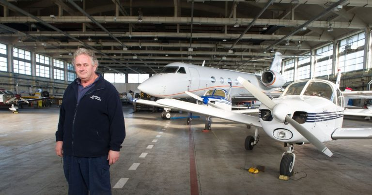 Inside the huge aircraft hangar home to £12m private jets and fighter planes